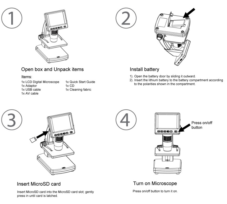 GX_Microscopes_ID0920_LCDDM-38_Portable_Digital_Microscope_with_Screen_and_Stand_Quick_Start_Guide_