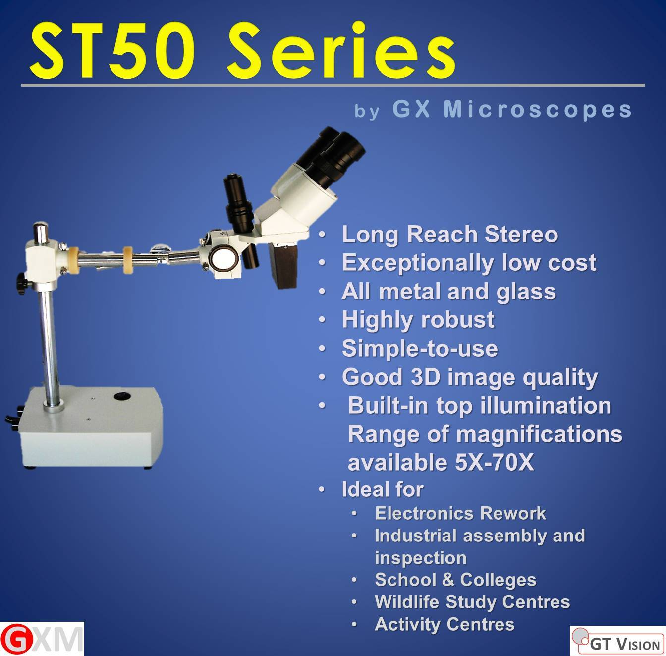 ST50_A_and_B_Long_Reach_Stereo_Microscope_by_GX_Microscopes