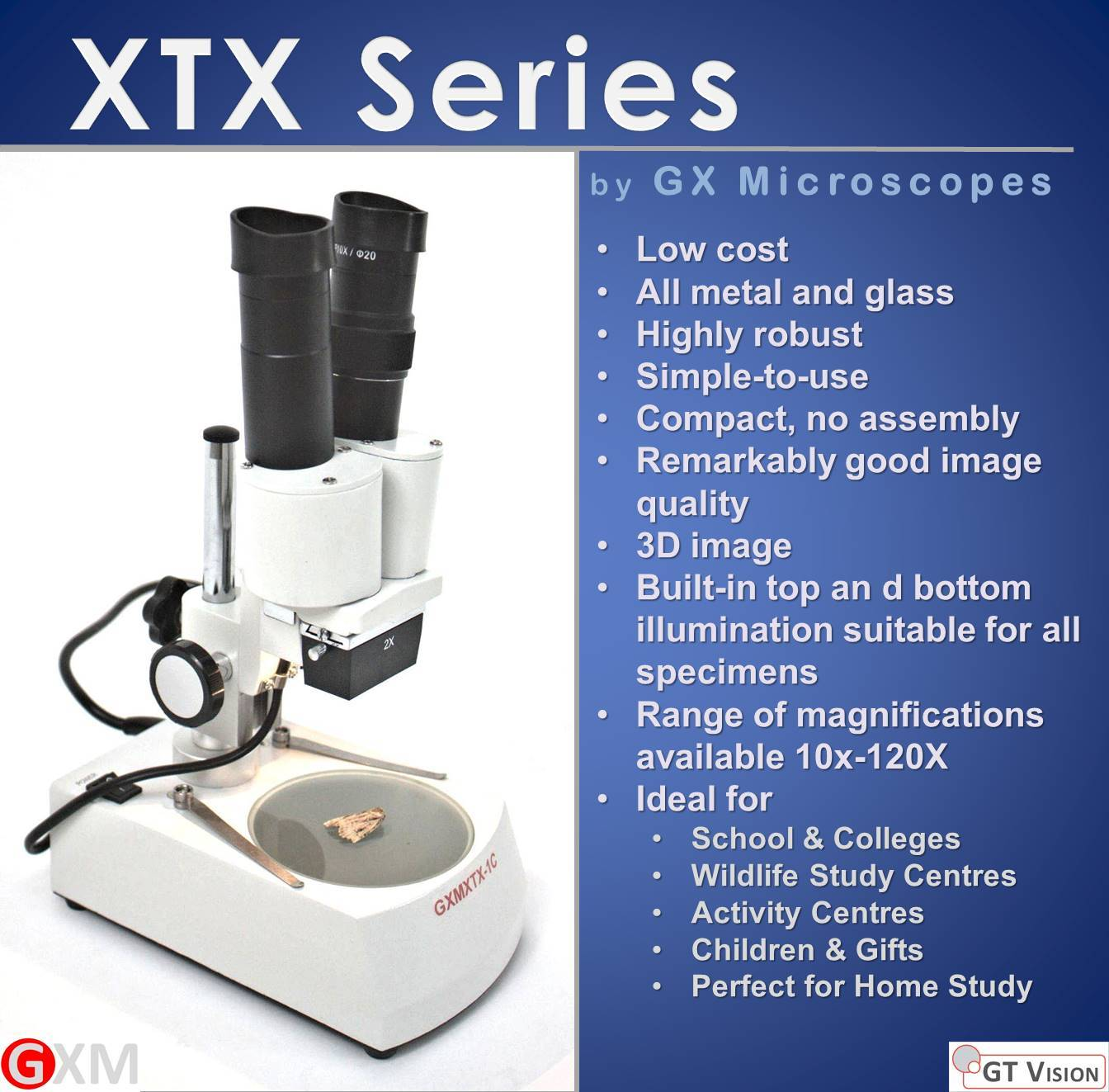 XTX_Single_Magnification_Stereo_Microscope_by_GX_Microscopes