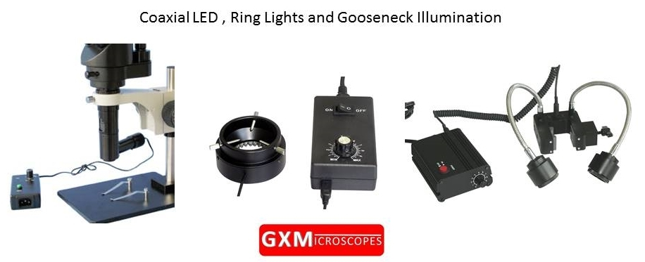 Coaxial_LED_Lights,_Ringlights,_Gooseneck_Light_Microscope_Illuminators_by_GX_Microscopes_from_GT_Vision_Ltd