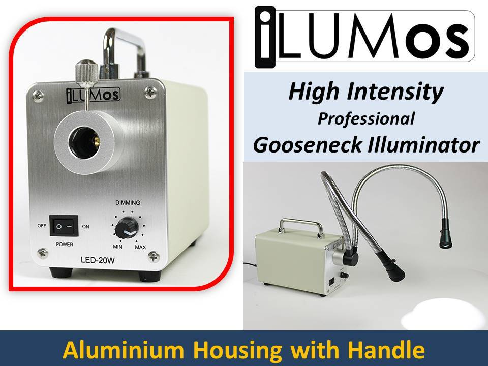 0153 iLUMos Aluminium Body High Intensity LED Lamphouse with Dual Goosenecks by GT Vision