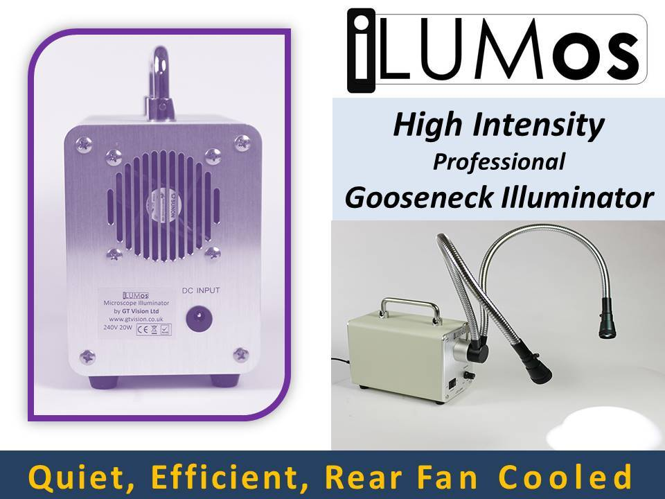0153 iLUMos Fan Cooled High Intensity LED Lamphouse with Dual Goosenecks by GT Vision