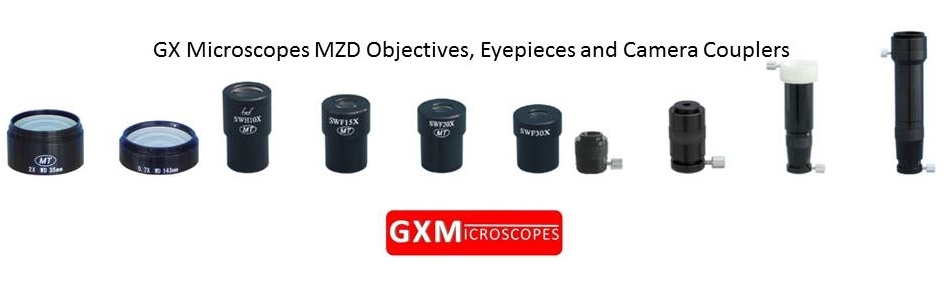 Microscope_Objectives_Microscope_Eyepieces_Microscope_C-Mount_Camera_Couplers_for_GX_Microscopes_MZD_series_Microscopes_by_GT_Vision_Ltd