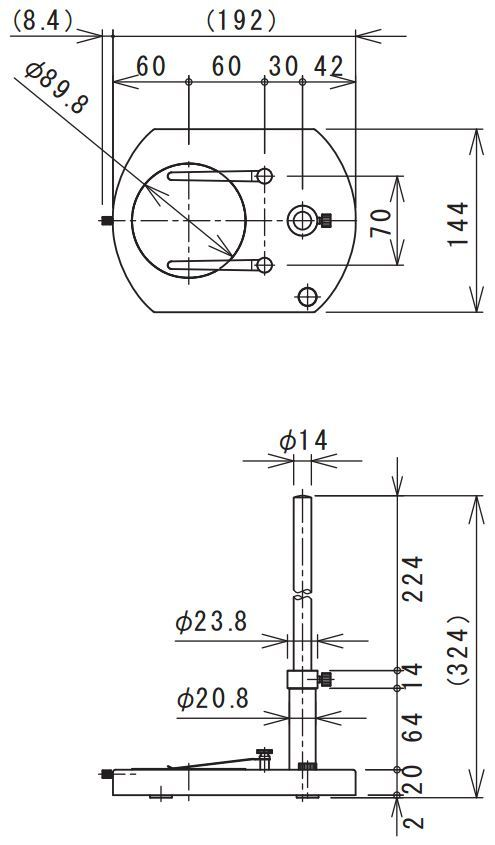 77004_MM-STAND-MSS_Stand_Diagram_for_MM_Series_Microscopes_by_Miruc_from_GT_Vision_Ltd