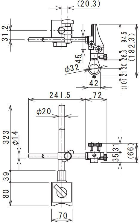 77009_MM-STAND-MX-S_Stand_Diagram_for_MM_Series_Microscopes_by_Miruc_from_GT_Vision_Ltd