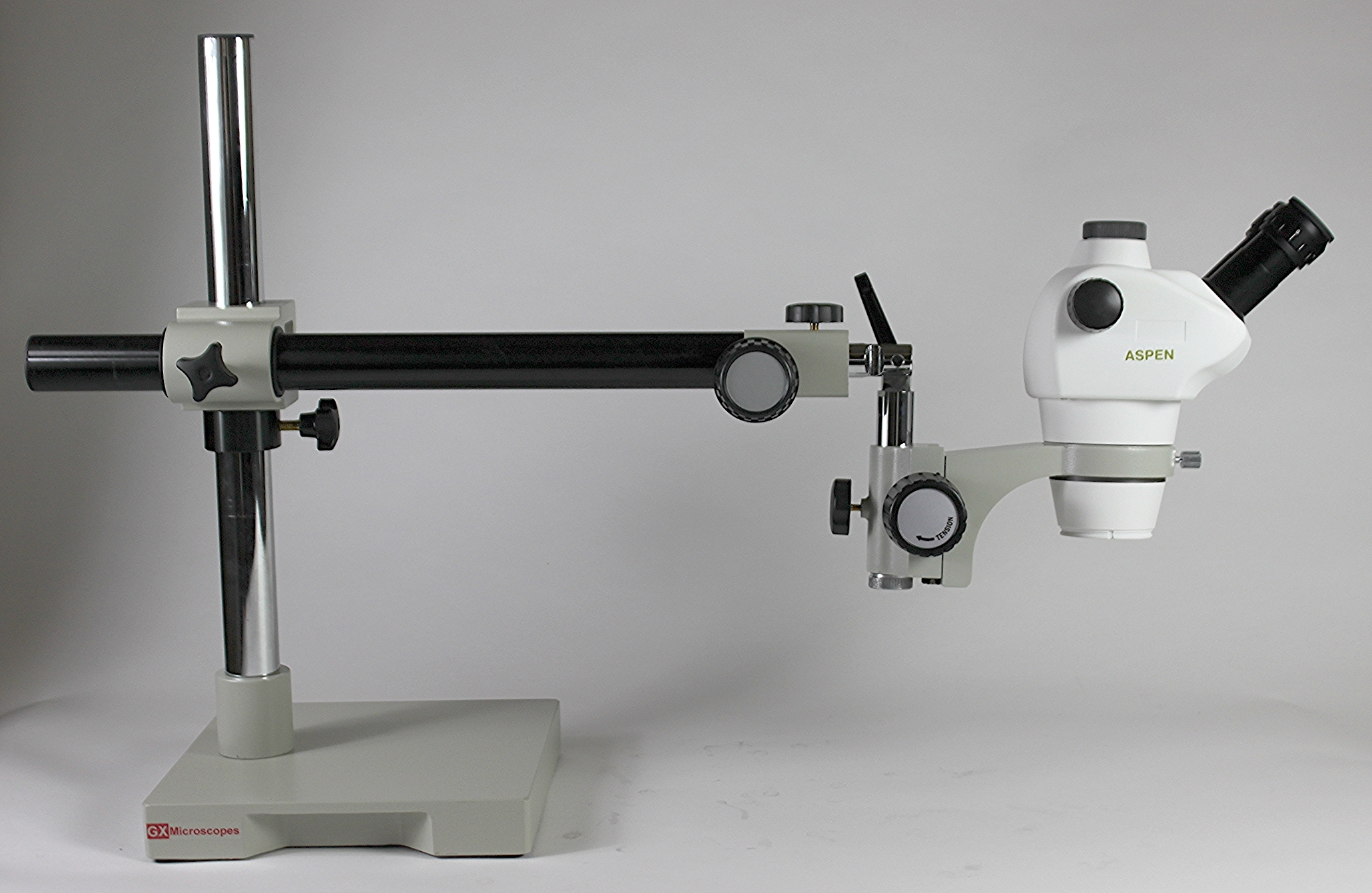 2570 GXMV1 Long Reach Microscope Stand with Stereo Microscope Head