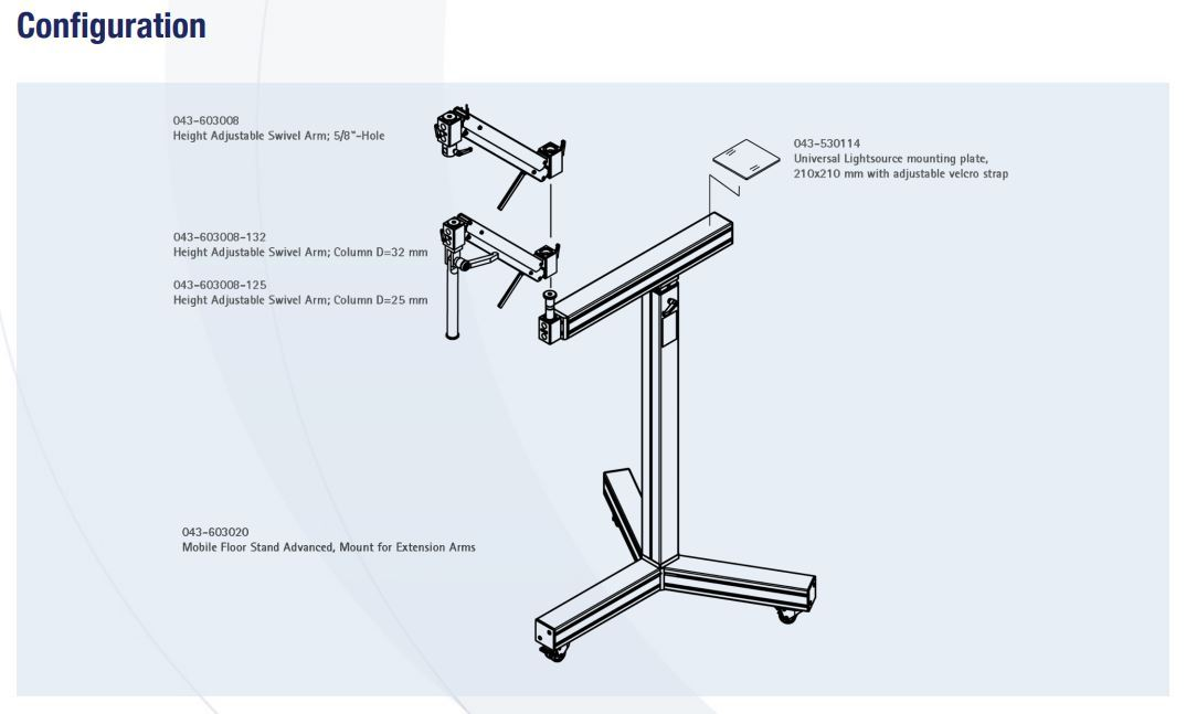 Microscope_Floor_Stand_OP603008-603020-530114_Configuration_Diagram_by_GT_Vision_Ltd